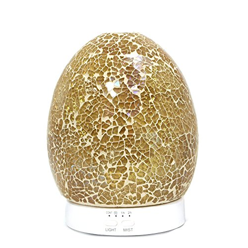 Price comparison product image Advanced Pure Air Oil Diffuser 'Ceramic Glass Egg' 120ml / Essential Oil Diffuser for Home Humidifier / Ultrasonic Scent / Aromatherapy Mist Diffuser with 8 LED Light Options / 4 Adjustable Mist Mode