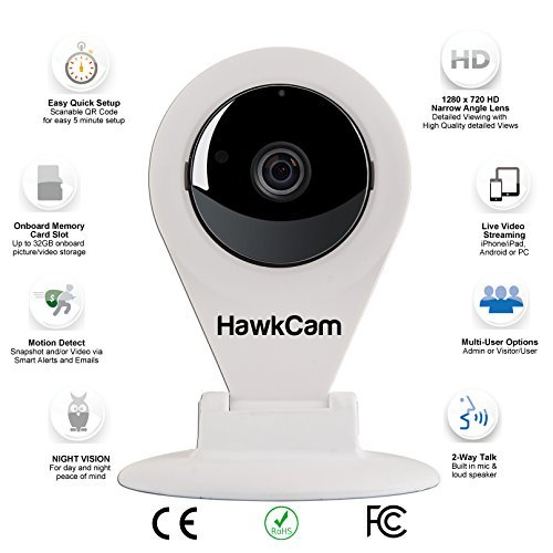 Best Seller HawkCam Wireless Home Security Camera, Nanny ...