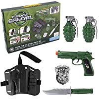 ECCRIS Military Compact Force Commando Pretend Toy Soldier Costume Role Play Set