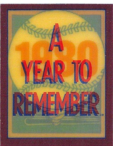 - 1989 Score A Year to Remember Magic Motion #49 George Brett: 1980 Kansas City Royals