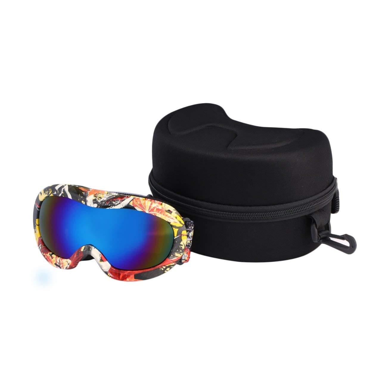 Banbie8409 Kinder Schnee Skibrille Doppelscheibe Anti-Beschlag Winddicht UV400 Maske Brille (Graffiti Farbe # 3)