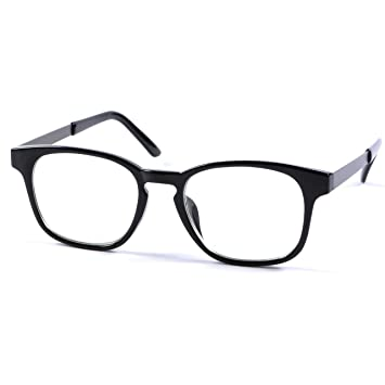7aacaf930369 Zero Strength Lens Computer Glasses Black Front Metal Temples Anti Glare  Anti Reflective Blue Light UV