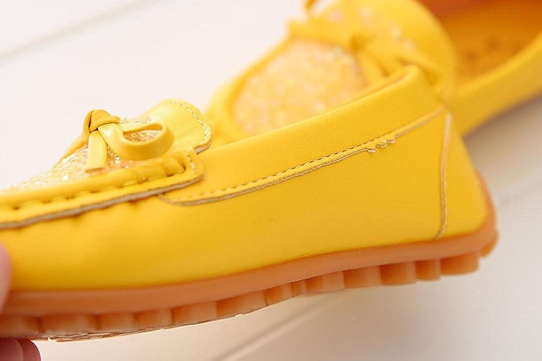 Lanhui Toddler Kids Girls Princess Single Shoes Crystal Casual Party Sneaker