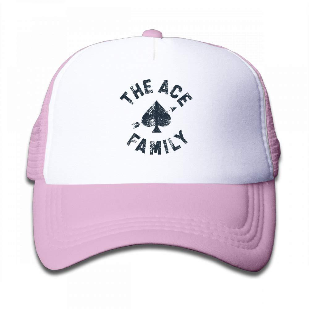 Kid's Boys Girls The Ace Family Youth Mesh Baseball Cap Summer Adjustable Trucker Hat