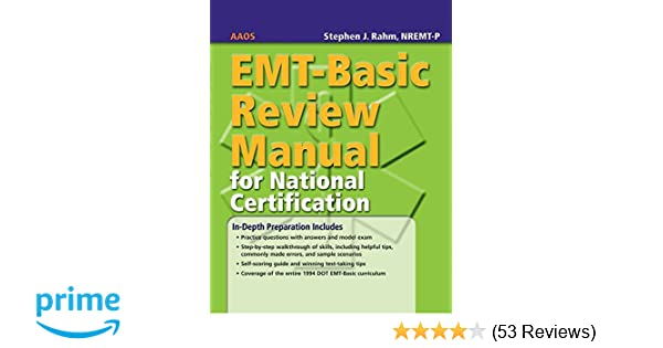 EMT-Basic Review Manual for National Certification: 9780763744663 ...