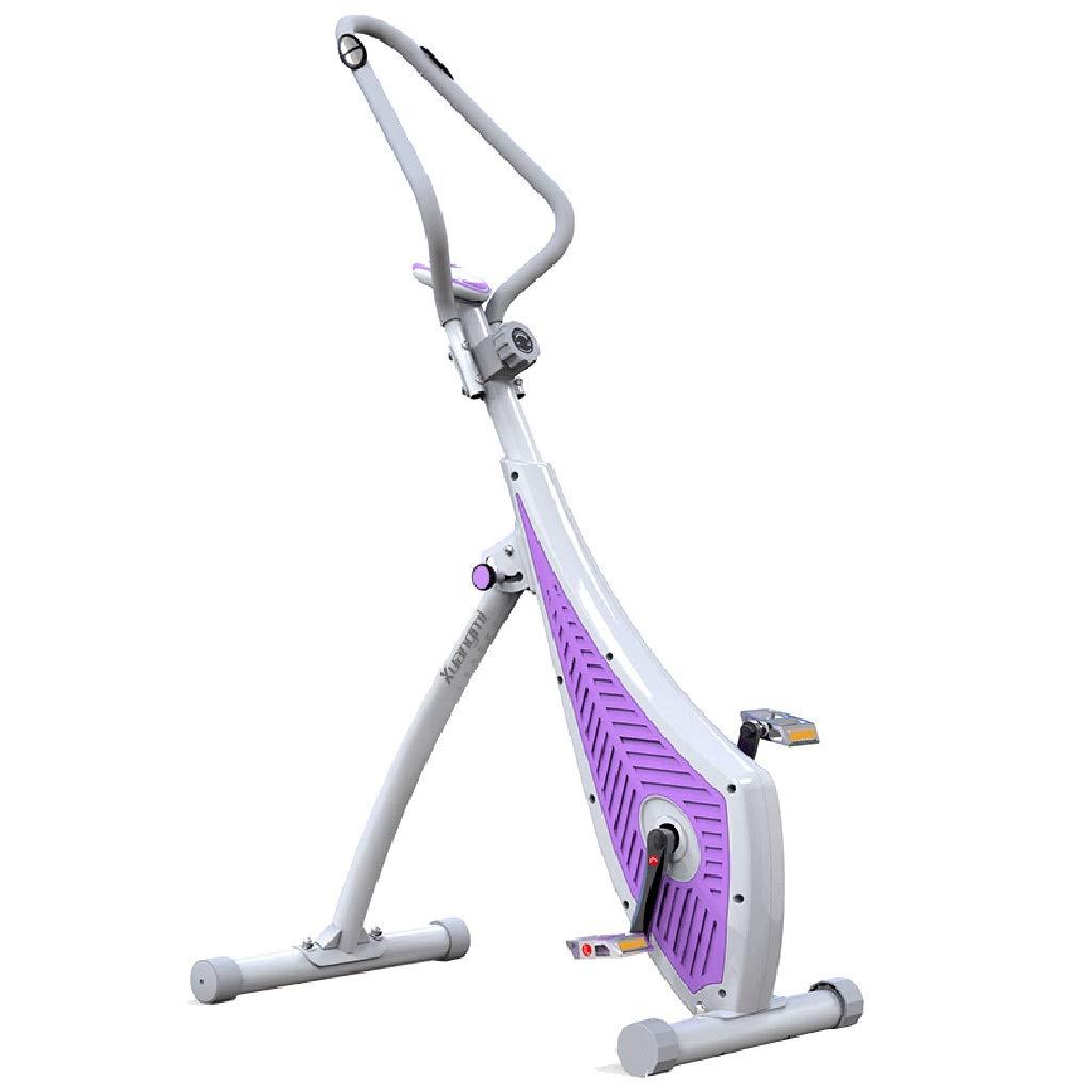 フィットネスバイク スピニングバイク、サイレントエクササイズバイク、室内用自転車、オフィス用磁気制御スリミング自転車、フィットネス機器用スピニングバイク (Color : Purple)  Purple B07NVL9RPK