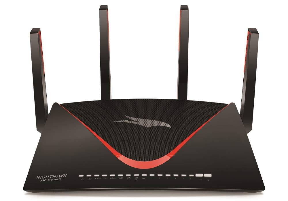 NETGEAR Nighthawk Pro Gaming XR700 WiFi Router with 6 Ethernet ports and wireless speeds up to 7.2 Gbps, AD7200, optimized for the lowest ping by NETGEAR