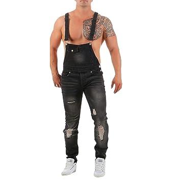 Pantalones de Petos Corte Ajuste Holgado Pantalón Chandal ...