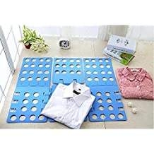 Cisixin Clothes Folder - Adult Dress Pants Towels T-shirt Folder / Shirt Folder/ Laundry Folder Board Organizer, Blue