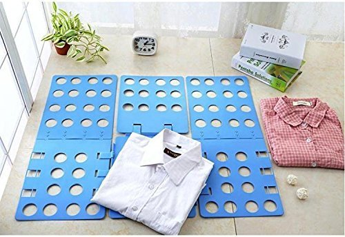 Cisixin Clothes Folder - Adult Dress Pants Towels T-shirt Folder / Shirt Folder/ Laundry Folder Board Organizer, Blue