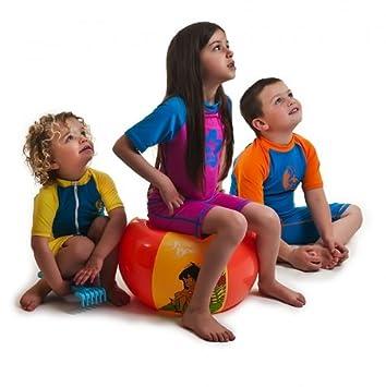 0e38a0685 50, traje de baño para niños entre 2 años hasta 10 años multicolor  Blue/Orange Talla:2 Years 50 para niños Bañador camiseta y pantalones de  licra ...