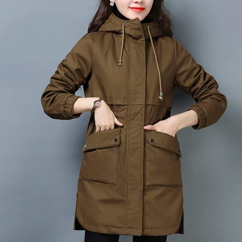 Caramel Cotton Coat New Winter Plus Velvet Cotton Jacket Medium Long Ladies Down Jacket Four colors Optional (color   Purple, Size   XL)