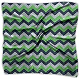 Seattle Seahawks Chevron Silky Square Scarf Kerchief Neck Scarf Headdress 39.4X39.4 Inth