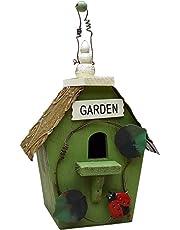 zenggp Casas Rurales Retro Casa De Pájaros De Madera Jardín Casa para Pájaros Colgando Decoración para