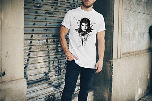 Michael-Jackson-IIII T-Shirt Herren, weiß mit Aufdruck