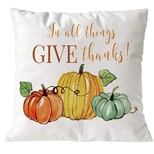 YOcheerful Halloween Pumpkin Cusion Cover Sofa Bed Car Decor Pillow Cover (A-D,45cm45cm)