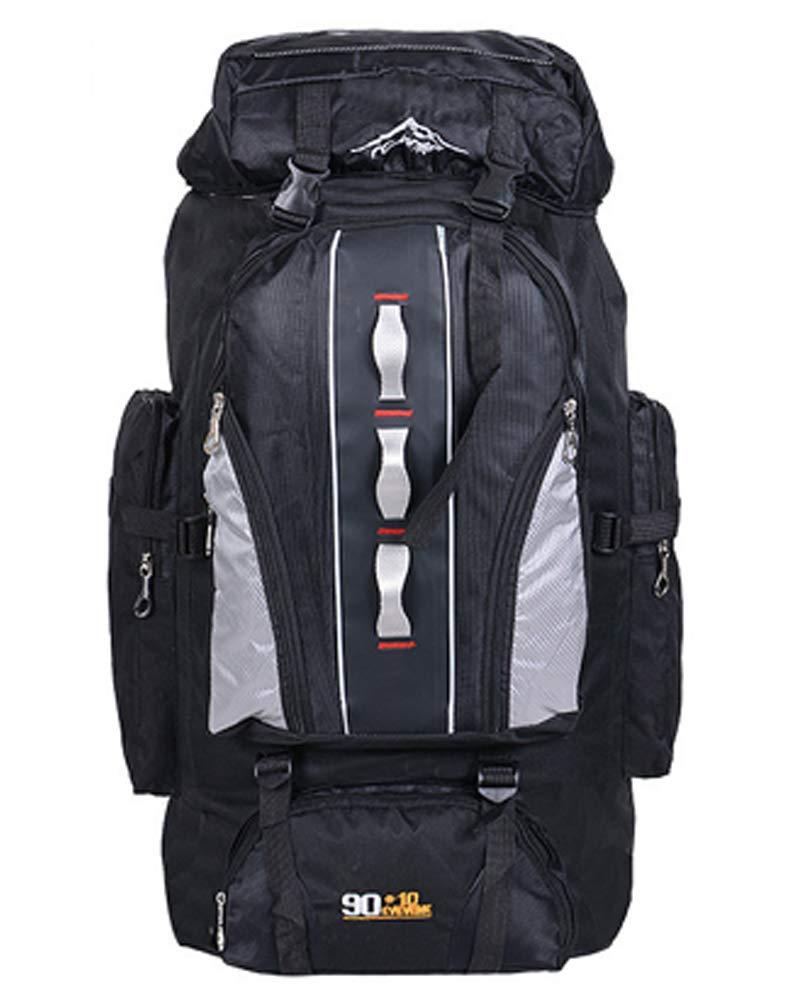Noir  100L Sac à Dos de randonnée - Nylon Homme Femme Imperméable Sport Trekking pour Voyage Camping, Orange, 100L