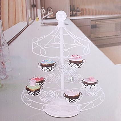 Buy Detachable 40 Tiers Pavilion White Iron Art Cupcake Display Stand Mesmerizing Tea Set Display Stand For Sale