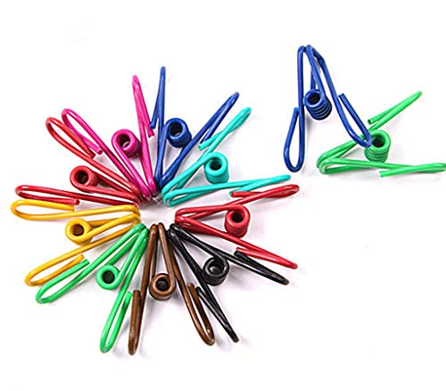 30pcs Steel Wire Clip,Colorful Vinyl-coated Windproof Clothespin(Mixed Colors)By Alimitopia ()