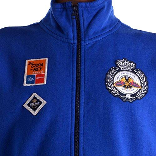 Gaastra Herrenjacke Coil Zip Carlins Copa del Rey Gr. L 100 35550064 Royalblau F61 Herren Sweatjacke