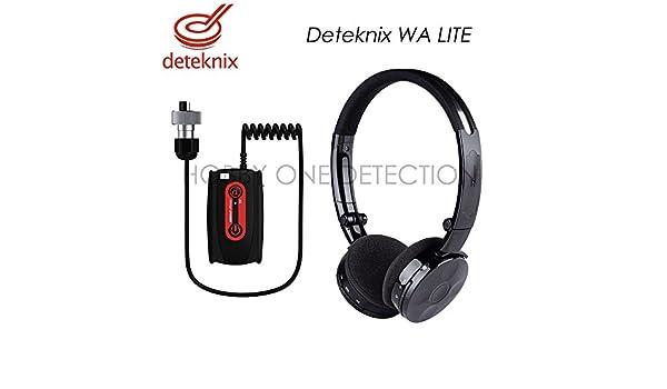 Deteknix - Auricular con micrófono inalámbrico Deteknix Wa Lite (Jack detector de metales Garrett AT Pro y at Gold) livrã © con cargador y adaptador USB.