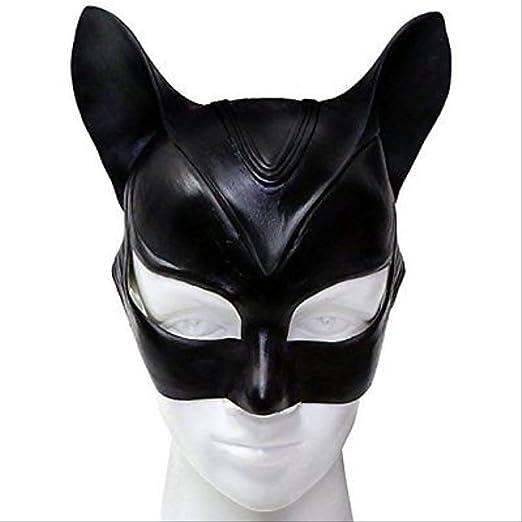 yryu Catwoman Máscara Disfraz de Cosplay Látex Casco Sexy Fantasía ...