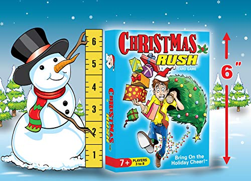 Christmas Rush - a Family Friendly Holiday Card Game - Fun for Ages 7 to a Very Spry 100 Years-Old - 3 to 8 Players