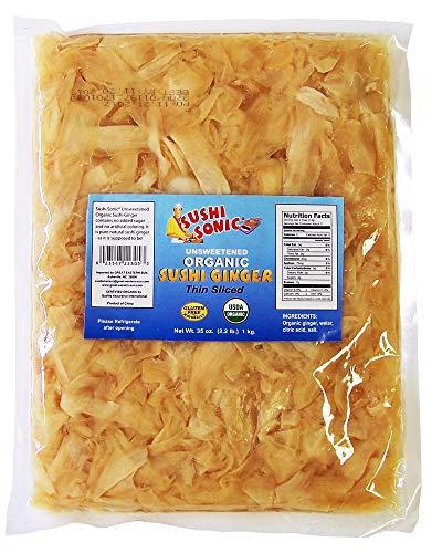 Sushi Sonic Unsweetened Organic Sushi Ginger, 35 Ounce