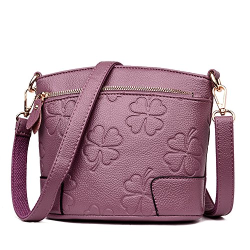 Purple Package Bag Handbag Shell Embossed New Shoulder Multiple Hand Black Meaeo Functions Diagonal Fashion Women New qUa6n8W5p
