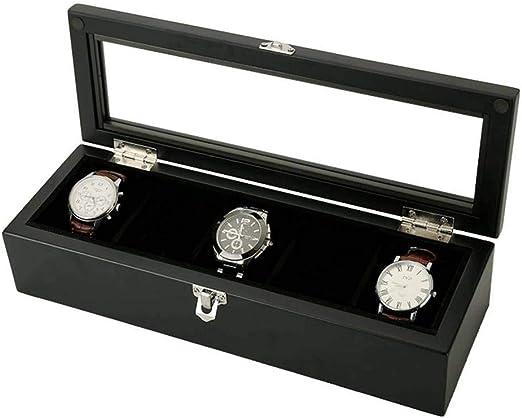 GOVD Caja Guardar Relojes Madera Estuche relojero con Almohadillas ...