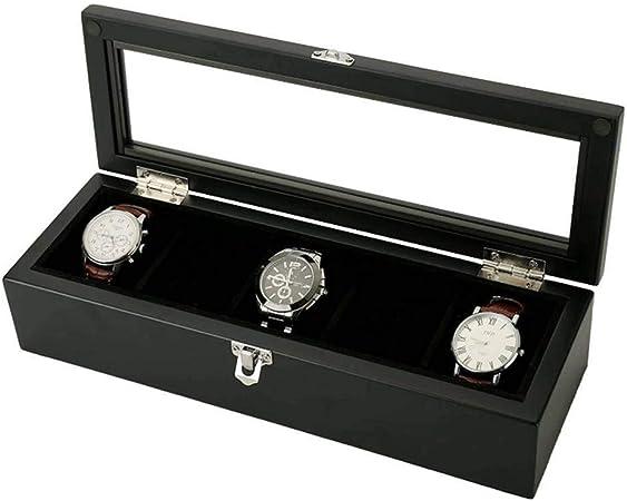 GOVD Caja Guardar Relojes Madera Estuche relojero con Almohadillas Extraíbles, para Relojes C: Amazon.es: Hogar