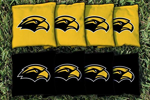 - Victory Tailgate NCAA Collegiate Regulation Cornhole Game Bag Set (8 Bags Included, Corn-Filled) - Southern Mississippi Golden Eagles