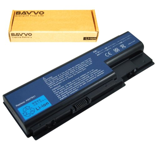 Bavvo 8-Cell Battery Compatible with Acer AS07B72 BT.00803.024 BT.00804.020 BT.00805.011 BT.00807.014, 14.8V, 8 Cells