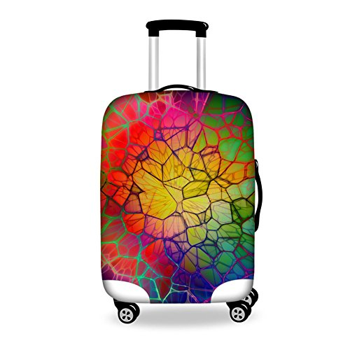 HUGS IDEA Colorful Elastic Travel Trolley Case Luggage Protective Cover for 26/28/30 Inch