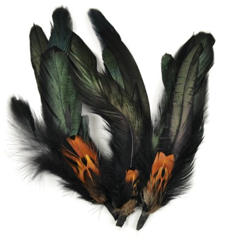 Touch of Nature 3-Piece Natural Feather Pick with Nylon Loop Cocktail with Ringneck Pheasant for Arts and Crafts, 5.5-Inch - Perfect addition to any craft project Natural Feathers Made in China - wall-art, living-room-decor, living-room - 510tSpawHnL -