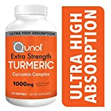 Turmeric Curcumin Softgels, Qunol with Ultra High Absorption 1000mg, Joint Support, Dietary Supplement, Extra Strength, 120 Count Larger Image