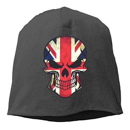 Unisex Adjustable Skull Caps Slouchy Knit Hat For 2017 British UK Flag Sugar - Plp Uk
