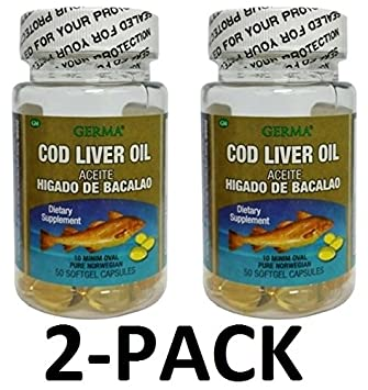 Aceite De Higado De Bacalao Capsules 2 x 100s (200 softgels Total) PURE NORWEGIAN