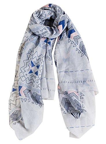 Nouvelle Style Foulard Châle Élégant Femme Plage Variés Impression Satin Clair Doux Multicolore Soie Longue Bleu Agréable Automne Aivtalk Motifs 1wBxqpSxH