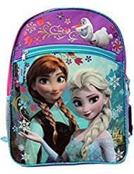 Disney Frozens Anna Elsa and Olaf 16 Backpack