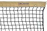Tennisnetz für Doppel 12,8 m (42 Fuß), 2 mm, Gewicht 4 kg [Net World Sports]