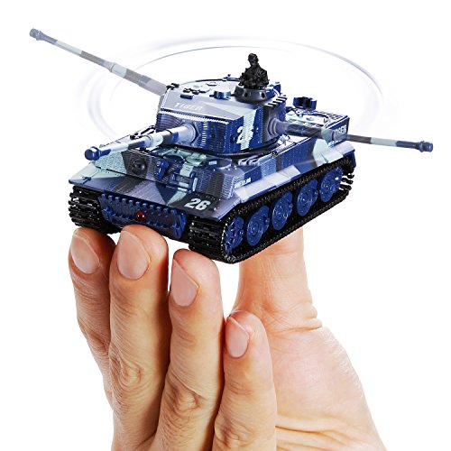 IFixer RC Mini Tank Toy for Kids Birthday Gift Present, Remote Control RC Radio Battle Tank Toy for Kids Boys, Grey