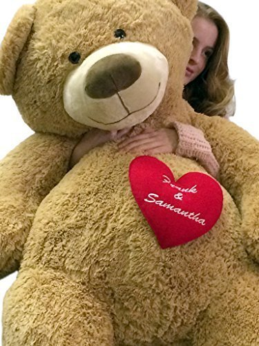 Amazon Com Big Plush Personalized His And Hers Names On Giant Love