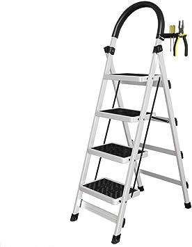 Plegable Escalera,multifunción Escaleras De Mano Antideslizante Pesada Deber Escalera Para El Hogar Cocina Oficina Almacén-blanco 43x75x145cm(17x30x57inch): Amazon.es: Bricolaje y herramientas