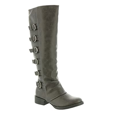 Blowfish Women's Kara Motorcycle Boot Grey Texas Size 9.0
