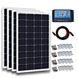 ECO-WORTHY 400 Watt Polycrystalline Solar Panel Starter Kit with 20A PWM LCD Charge Controller Off Grid for Home Boat