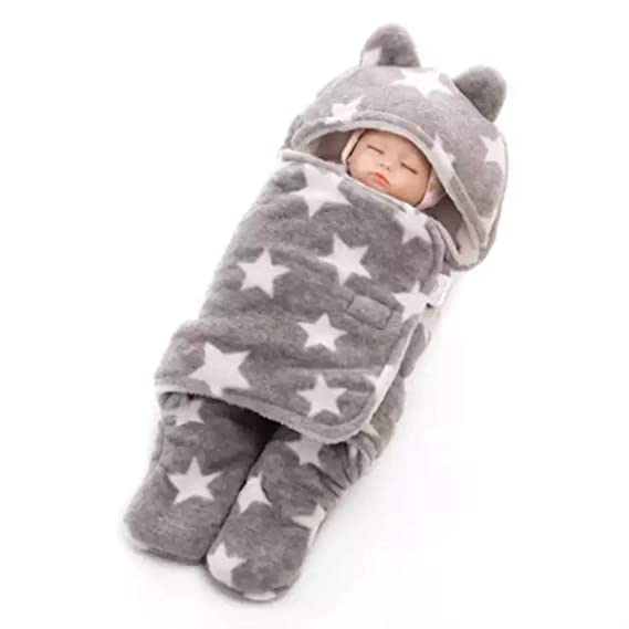 BRANDONN 3 in 1 Baby Blanket (Rich Grey)