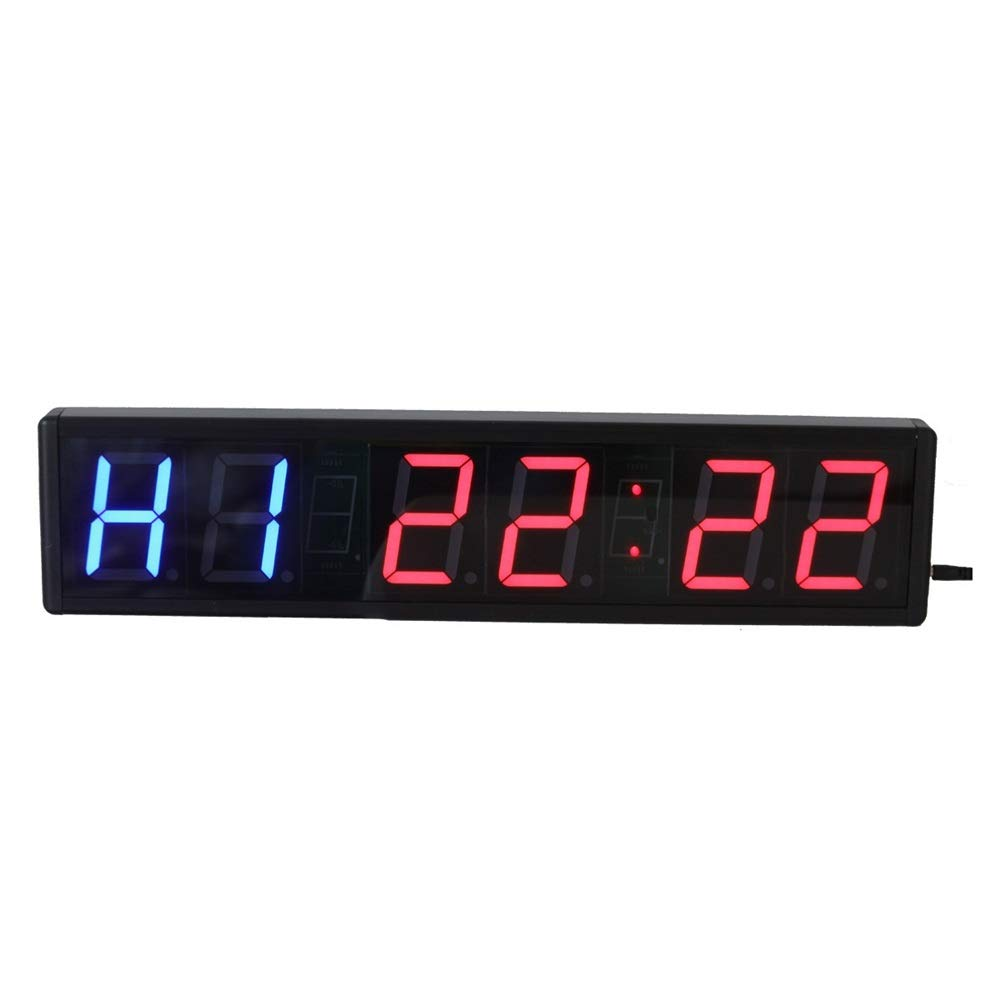 モダンデザイン - シンプルな3インチLEDデジタル屋内スポーツタイミングクロックカウントダウンアップタイマー壁時計リモートコントロール (色 : ブラック, サイズ : 50.6X12X3.5CM) ブラック 50.6X12X3.5CM