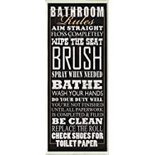 Bathroom Rules by Jim Baldwin Print Poster 8x18 Rustic Cabin Decor