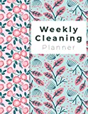 "Weekly Cleaning Planner: Spring Flowers Cover, Home Cleaning, Household Chores List, Cleaning Checklist 8.5"" x"